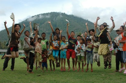 With the Kids of Sabesi Island