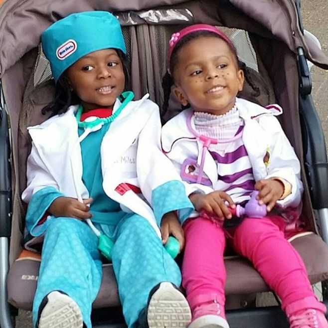 Doctors Miles and Maya Omowale starting medical school a little early.