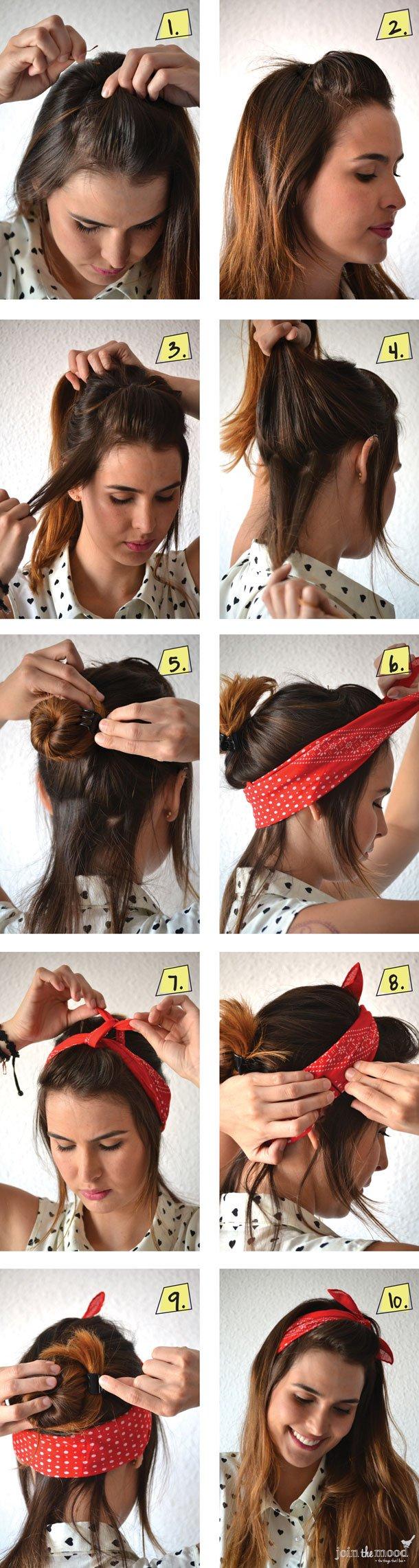 Как красиво завязать волосы