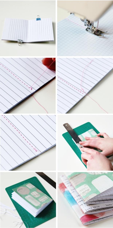 Как красиво украсить тетрадь внутри своими руками