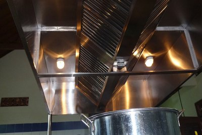 Detail of Overhead Lights & Extractor Fan