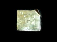 洋銀製板状分銅