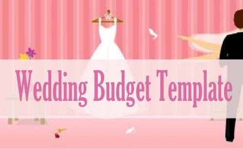 img budget template for wedding