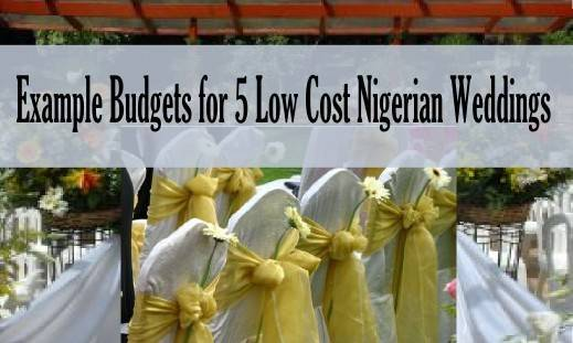 img sample budget costs for small Nigerian weddings