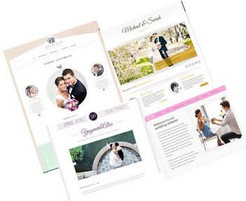 wedding site as invitation cards