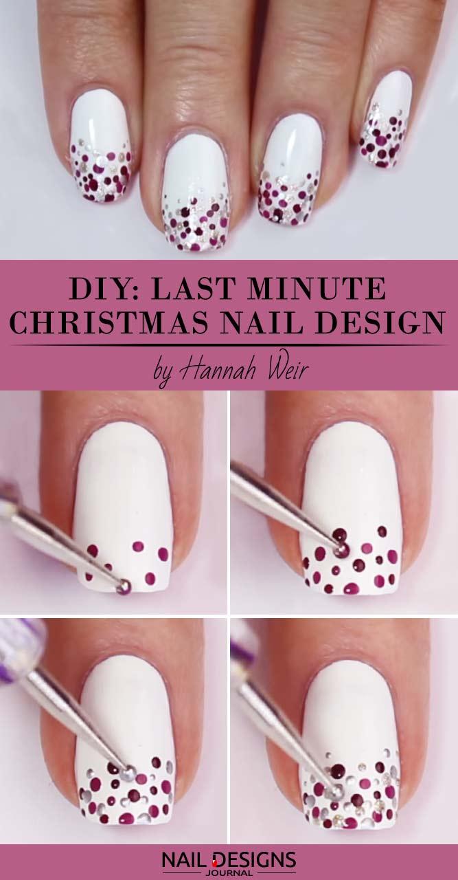 Last Minute Christmas Nail Art