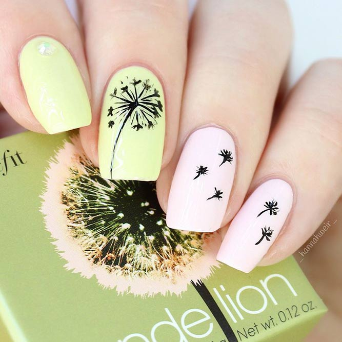 Hand Painted Nails With Beautiful Flowers