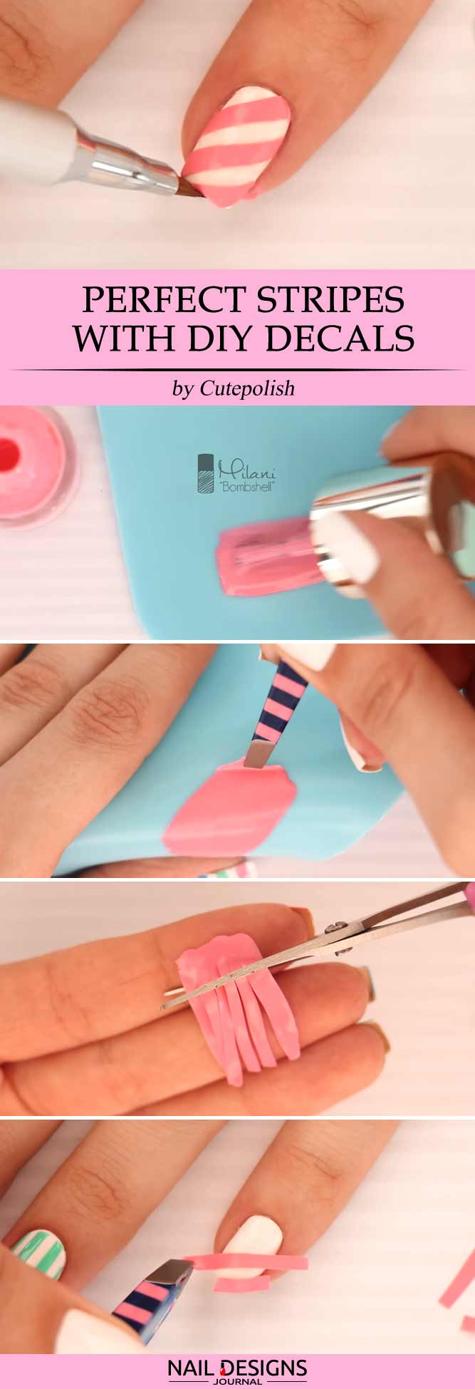 Perfect Stripes With DIY Decals