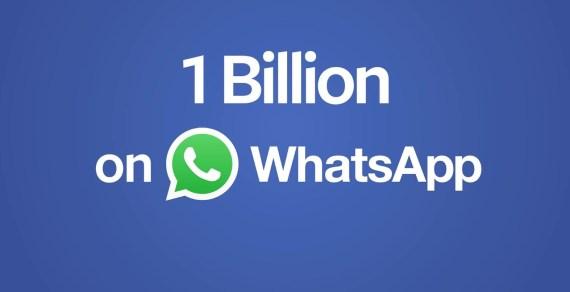 WhatsApp has 1 billion users worldwide