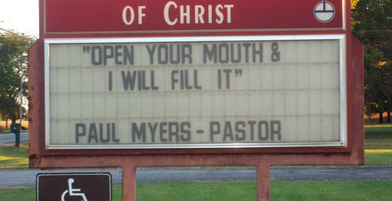 5 Silly Church Sign Posts That Will Make You Think Dirty