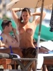 Carla Velli Topless at the Beach (Photo)