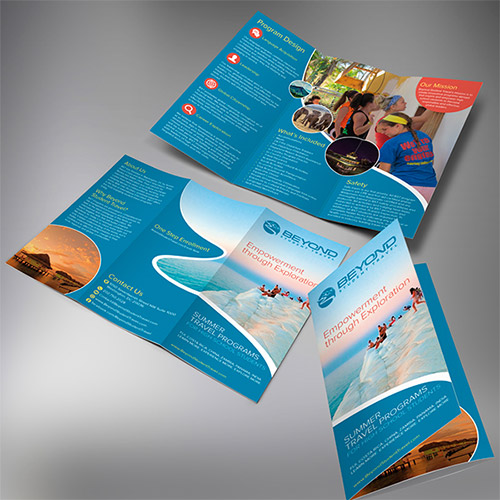 30 Creative Examples of Tri Fold Brochure Designs   Naldz Graphics travel tri fold brochure design