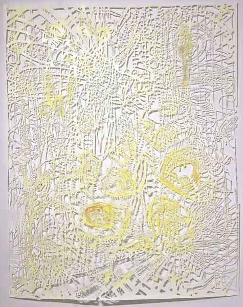 02b_w_Chris_Natrop--Yellow_Tempest_Twist,_2015_90in_x_72in_Watercolor,_Metal_Powder,_Glitter,_Paper
