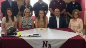 Kaitlyn Cavender of NAHS signs to play softball at Blue Mountain College