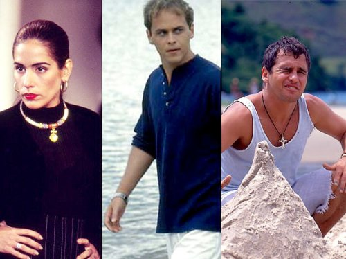 Foto em que aparece Raquel, Marcos e Tonho da Lua