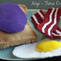 Felt Breakfast Food Pattern and Tutorial