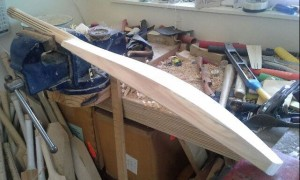 Oooh, Pretty! My bat in its final stages of creation.