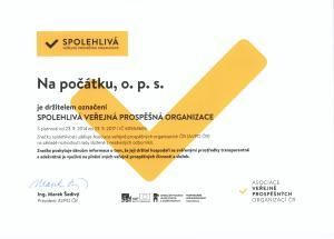 certifikát Značky spolehlivosti