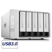TerraMaster D5-300 USB3.0(5Gbps) Type C 5-Bay External Hard Drive RAID 5 Enclosure HDD and SSD