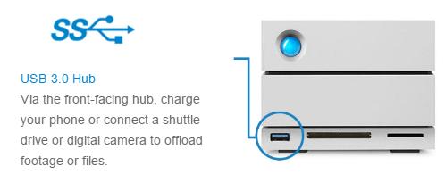 LaCie 2big Dock with Thunderbolt 3 2-Bay RAID solution for Mac and Windows USB 3.0