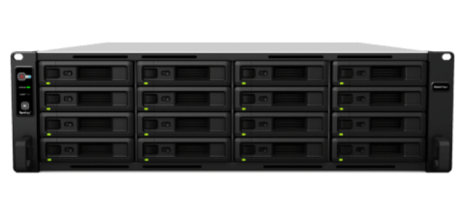 The Synology RS4017xs+ 16-Bay RackStation NAS front