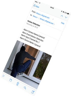 IP Camera Email Alert for CCTV NAS to your iPhone