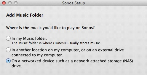 What is the best NAS for my Sonos Wireless Sound System 9