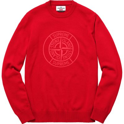 Supreme x Stone Island Reflective Compass Sweater