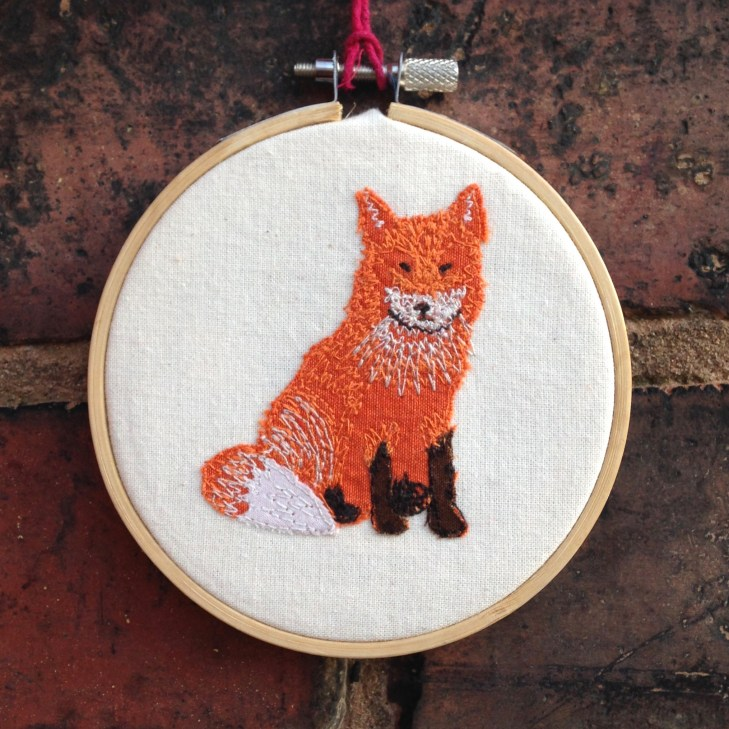 appliqué, freehand machine embroidery, textile art, wall hanging,