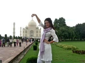 Natasha Blasick Visits Taj Mahal