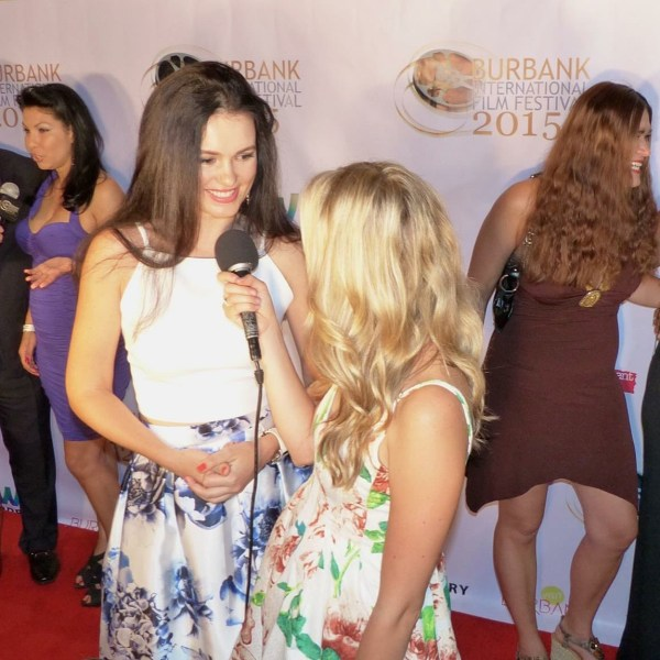Happily giving an interview about The Martial Arts Kids at the Burbank International Film Fest.