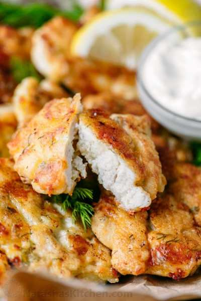 Tender Chicken Fritters - NatashasKitchen.com
