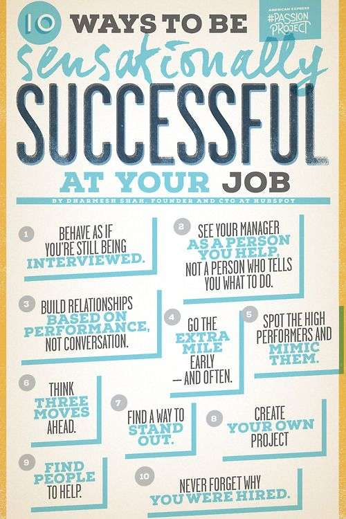 how to be sensationally successful at your job 10 Ways to be Sensationally Successful at your Job