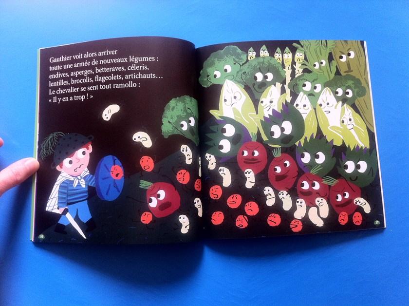 double page combat de légumes