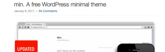 min-free-minimal-wordpress-theme
