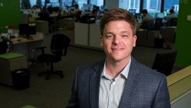 Adam Robinson, Chief Hireologist at Hireology, poses at the Hireology office in Chicago, Ill., on Tuesday, June 30, 2015. (Andrew A. Nelles/For The Chicago Tribune)