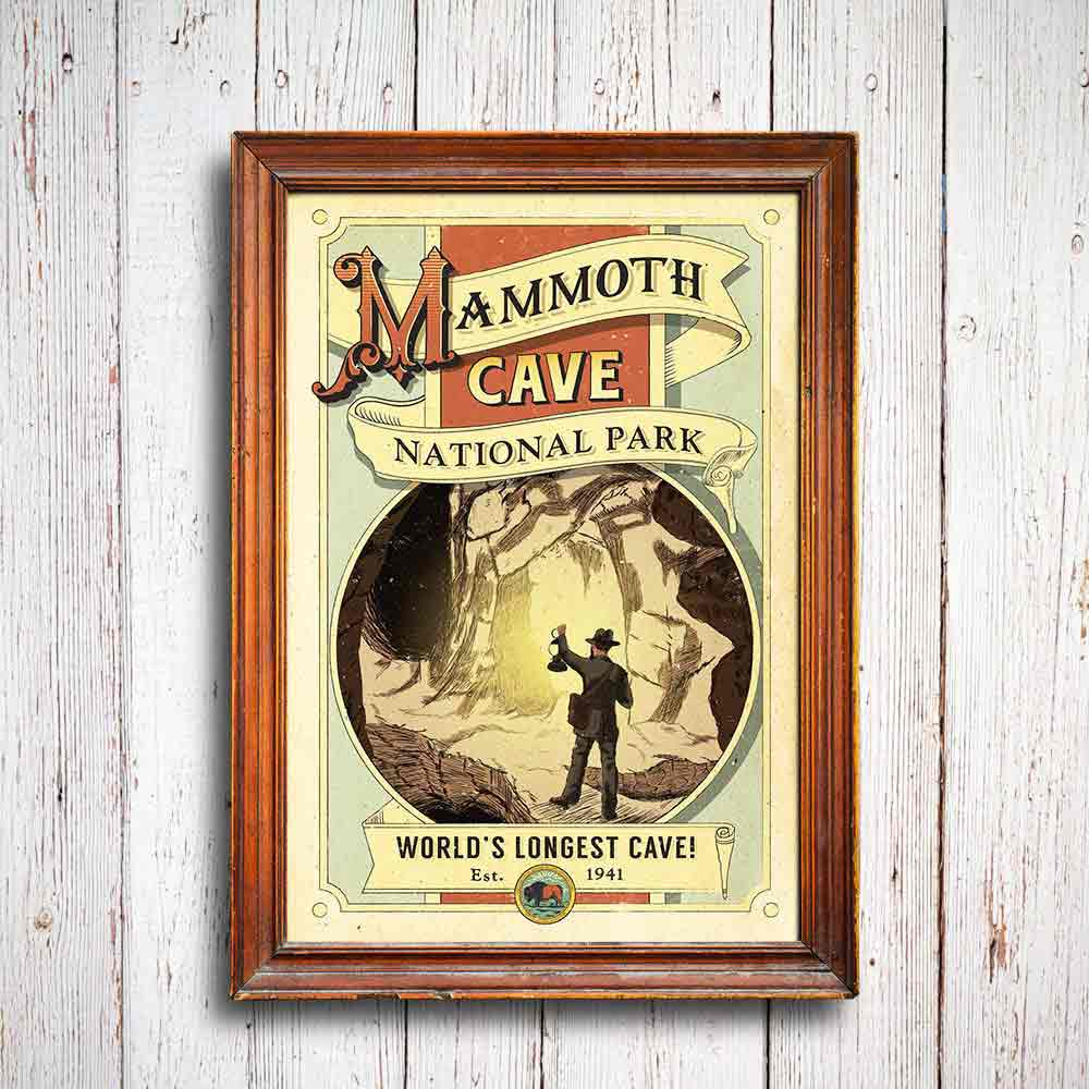 Our Mammoth Cave poster was researched and designed in the park, inspired by rangers and cave tours.