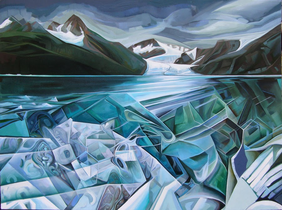 "Painting from a previous Alaska residency: Oil/canvas, 30""x40"", 2014"