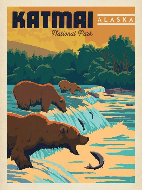 ultimate_centennial_birthday_present_anderson_design_group_katmai_alaska_poster