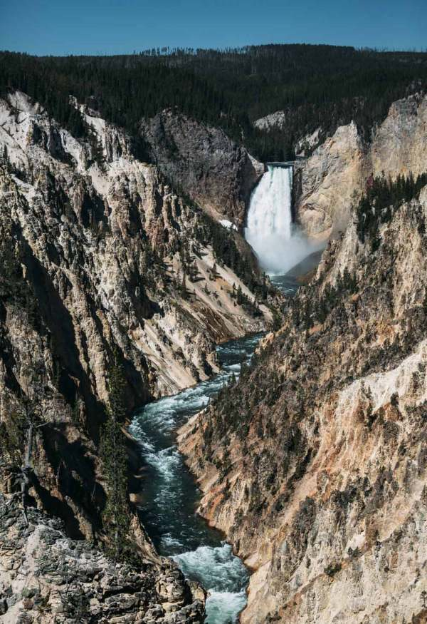 View from Artist Point, Yellowstone.