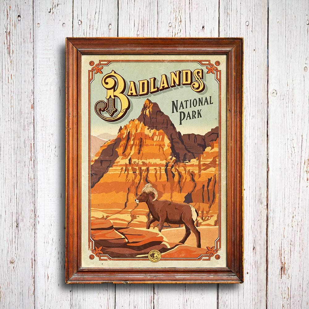 Badlands_poster_1_1024x1024_national_park_quest