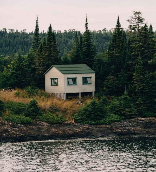 Some artists have the opportunity to spend weeks in a park - this is the cabin for the artist in residence program on Isle Royale.