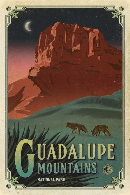 Guadalupe_mountains_poster_national_park_quest