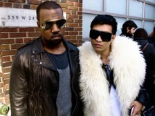 "Kanye (L) Seen With Gay Media Fashion Whore ""Bryanboy"" Who Some Believe Gave Kanye a Brutal Pounding. Regardless Bryanboy Doesn't Help Sell the Rappers Bad-Boy Image."