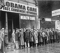 A photo of the line this burned man had to wait in thanks to Obamacare.