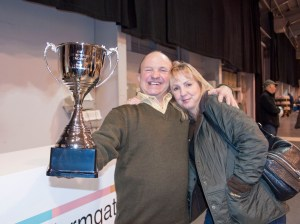 The Rupert Stephenson trophy with Rupert and Wendy Shackle