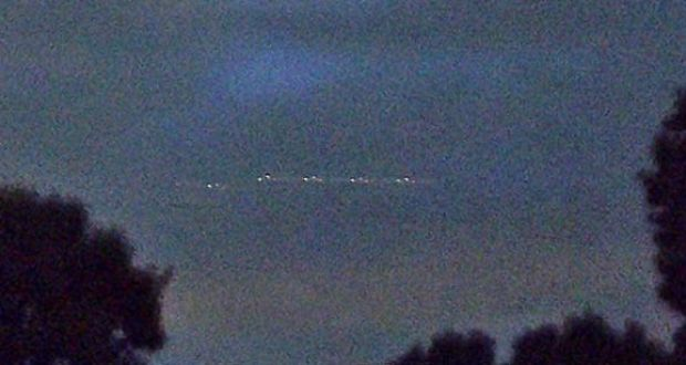 Second image of UFO submitted by Texas UFO witness.