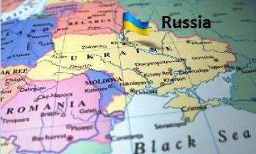 Ukraine Russia Map