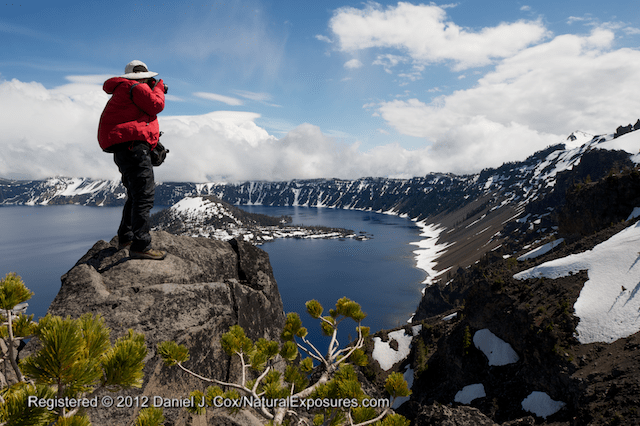 Super Mentor Reed Hoffman takes a high angle to shoot down on to magnificient Crater Lake during our recent Mentors Trek to Oregon.