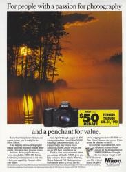 Cover of 1990 Nikon N8008 Ad